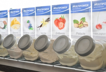 Multipower-Shakes in der fitnessfabrik Hamburg